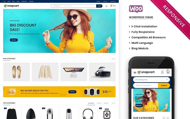 Snapcart - The Ultimate Mega Shop Responsive WooCommerce Theme