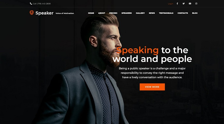 Speaker - Life Coach WordPress Theme.