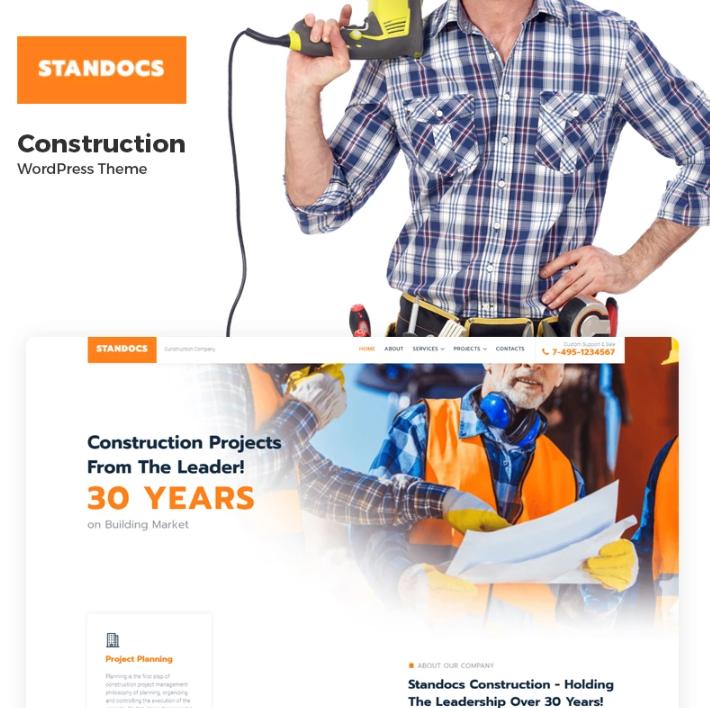 Standocs- Construction CompanyElementorWordPress Theme