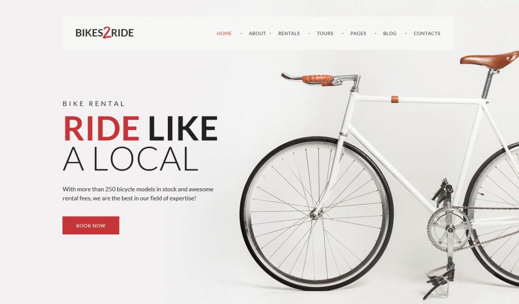 Cycling WordPress Theme