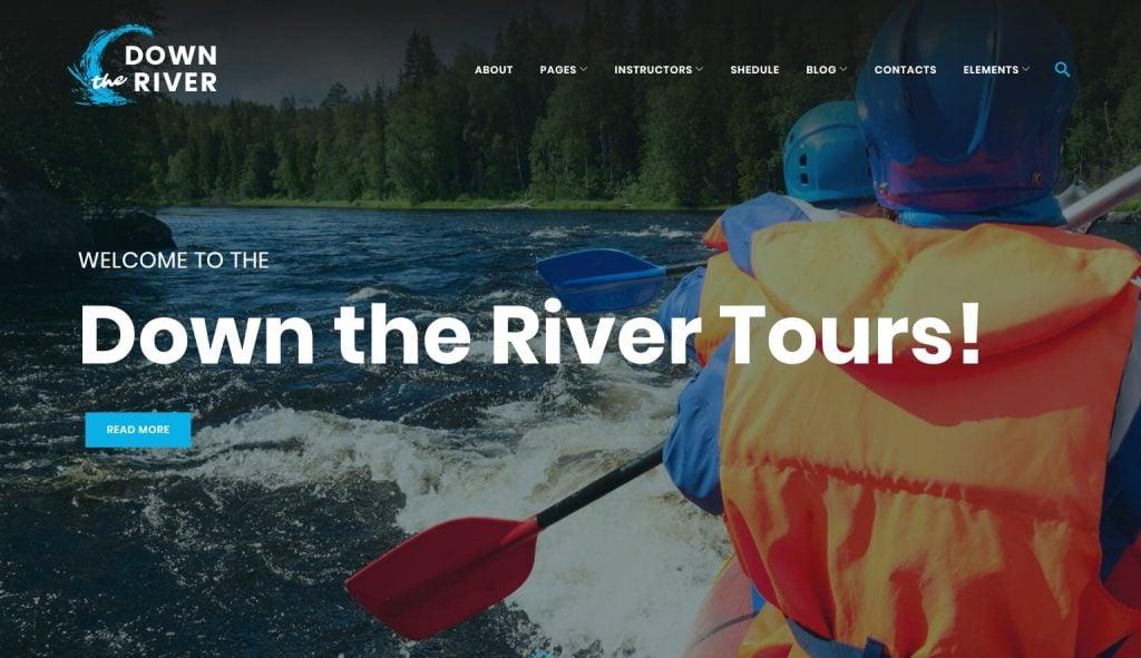 Kayaking WordPress Theme