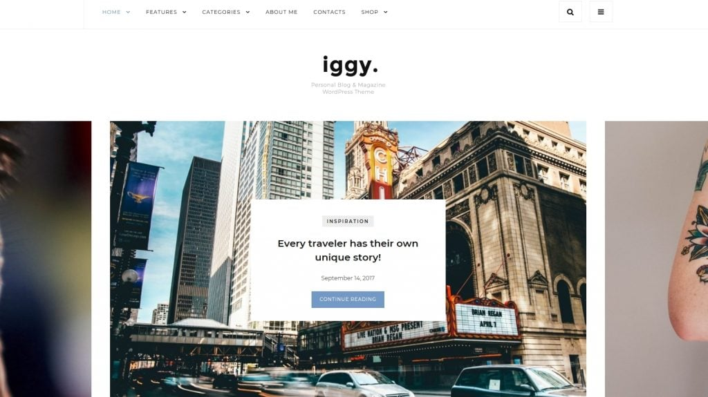 Iggy - Clean Blog & Magazine WordPress Theme