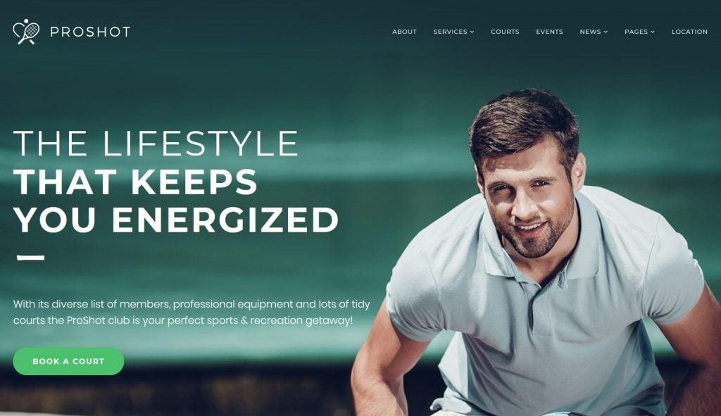 Tennis Club Responsive WordPress Theme