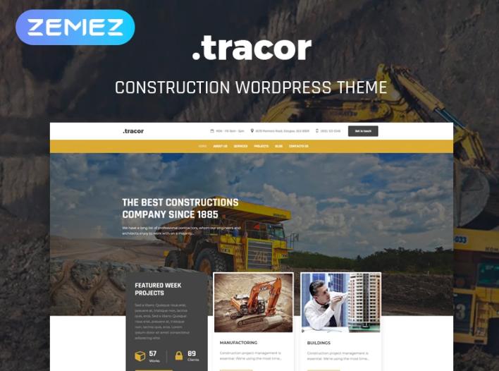 Tracor- Construction Multipurpose ModernElementorWordPress Theme