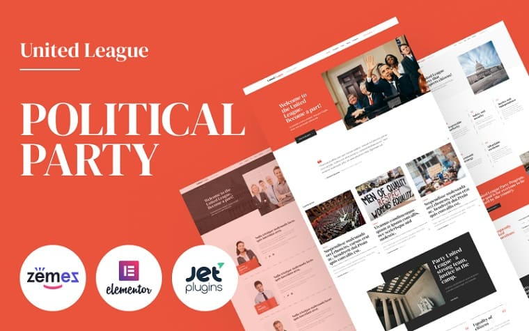 United League - Solid And Reliable Political Campaign Template WordPress Theme.