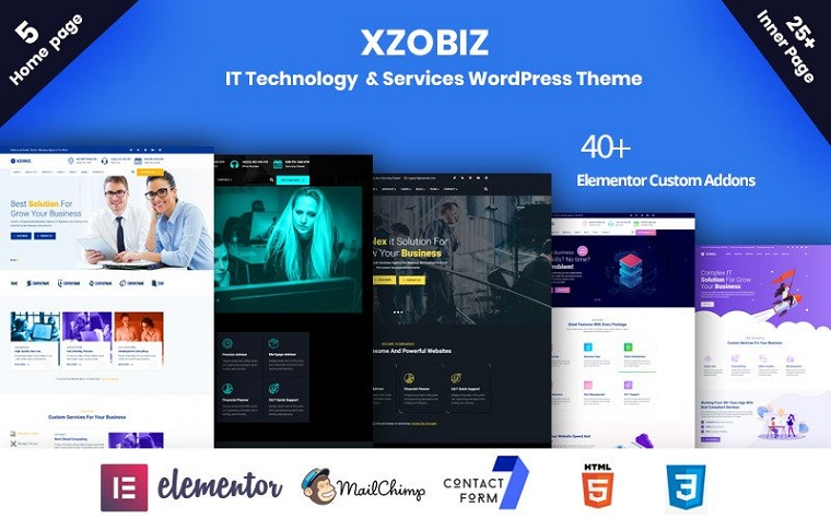 Professional Xzobiz WordPress Theme