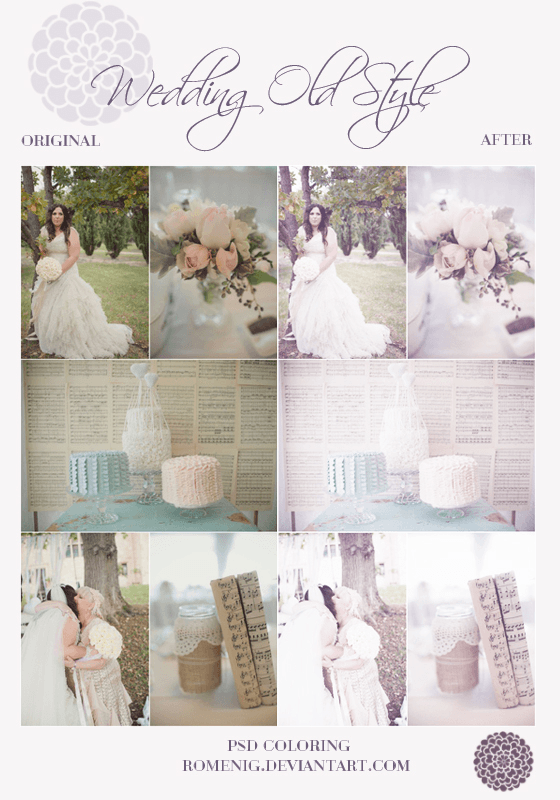 WEDDING OLD STYLE PSD COLORING