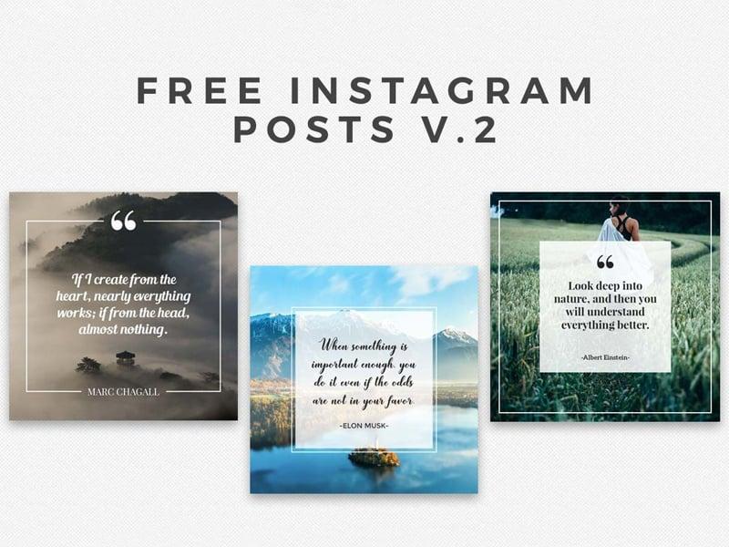5 Free Instaframe Posts