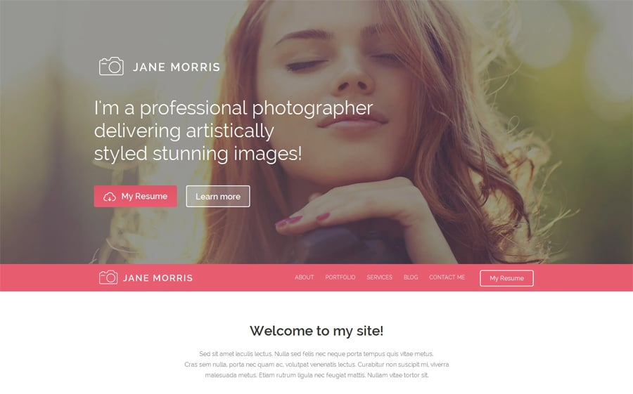 Photographer Portfolio Free WordPress Theme