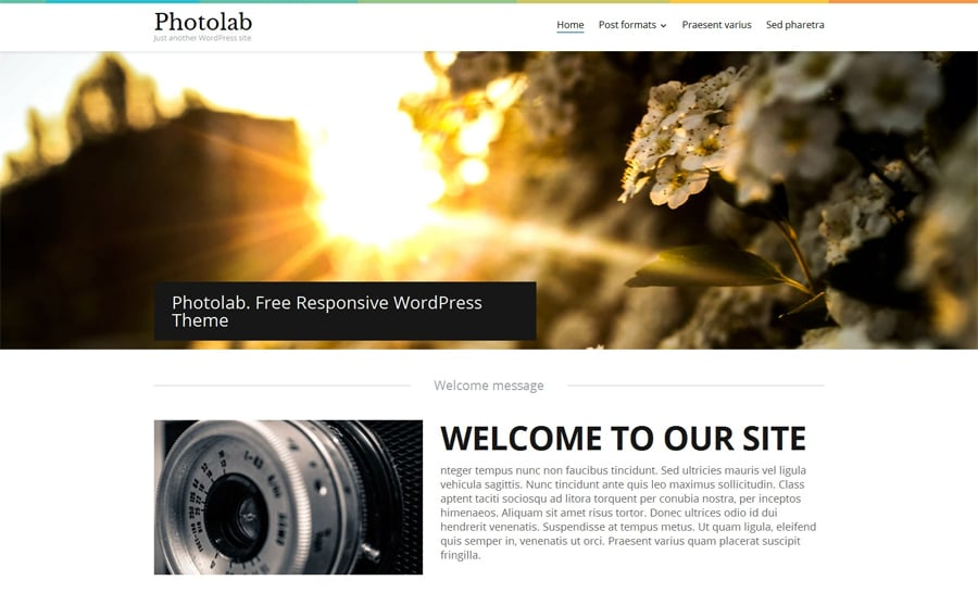Stock Photo Responsive WordPress Theme