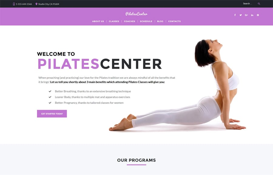 Fitness & Yoga Free WP Theme