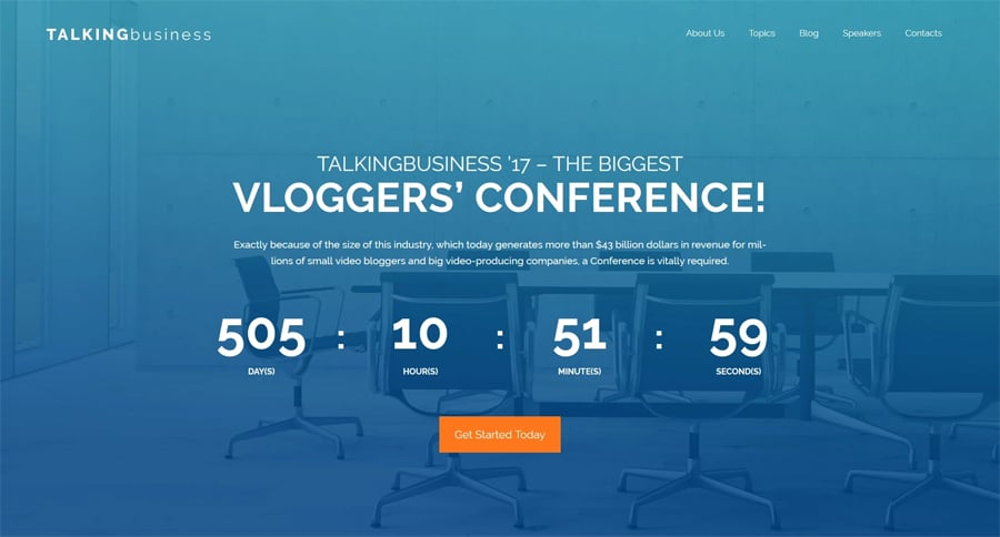 Conference Free WordPress Theme