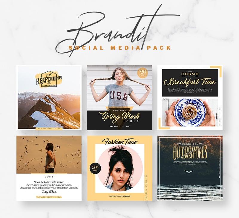 Brandit Social Media Pack Bundle