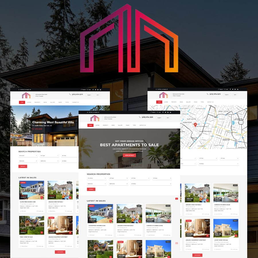 Real Estate Bootstrap HTML5 Website Template