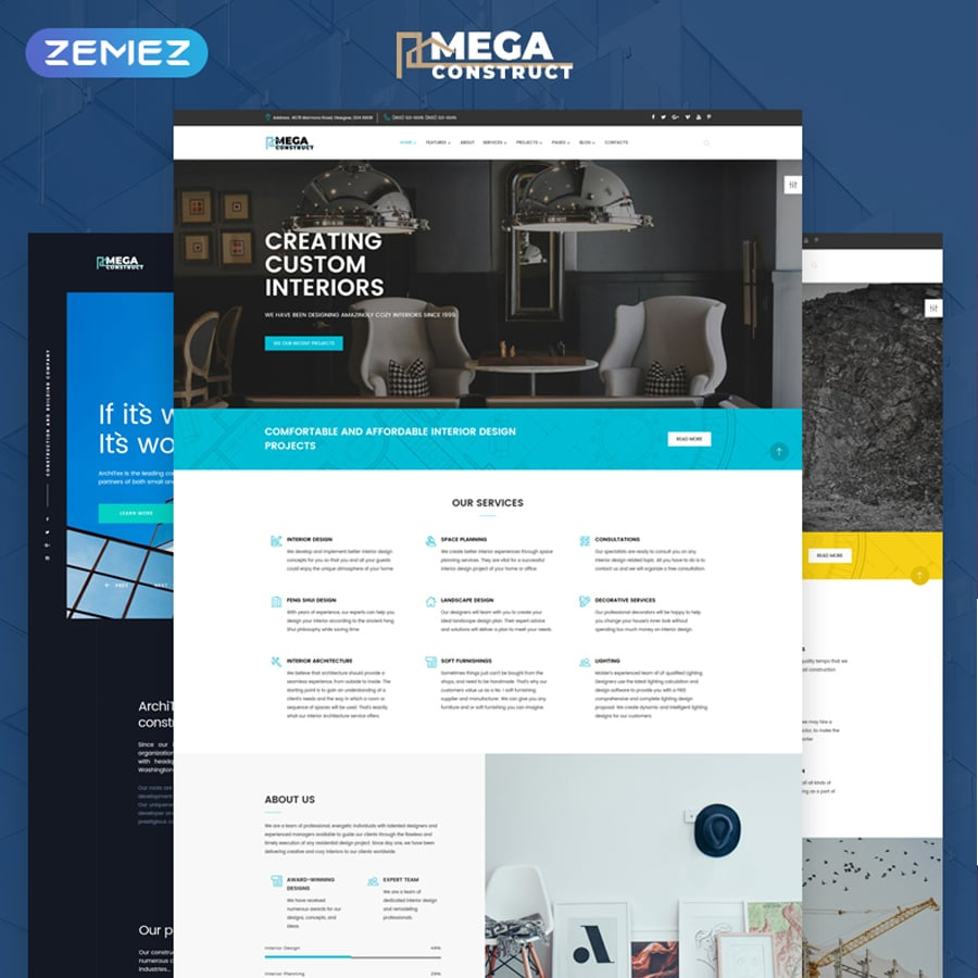 Construction Company Multipage HTML5 Website Template