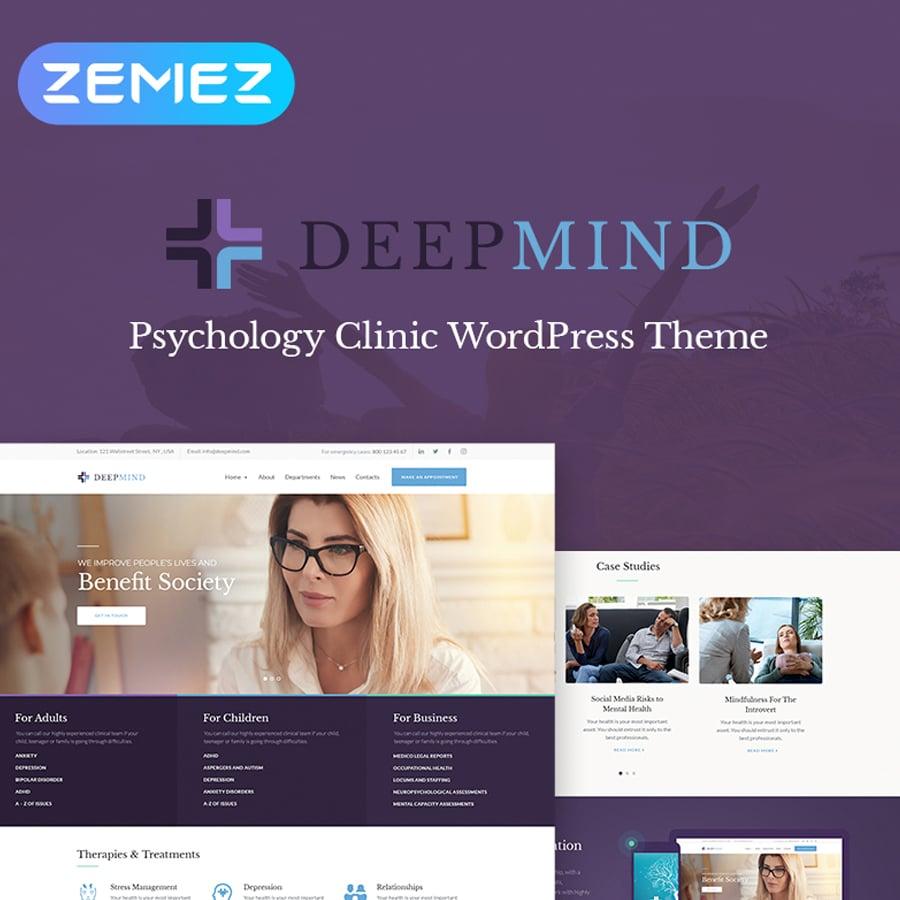 Psychology Clinic WordPress Theme