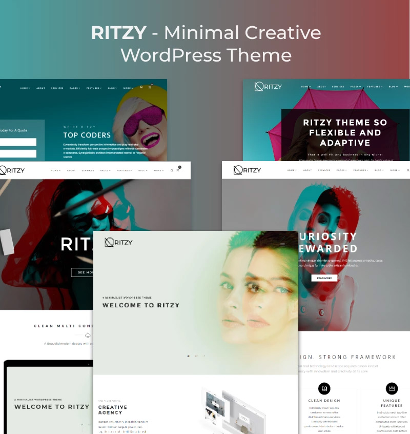 Ritzy - Minimal Creative Elementor WordPress Theme