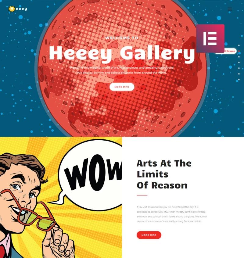Heeey - Art Gallery Elementor WordPress Theme