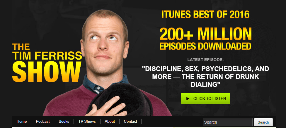 Blog of Tim Ferriss