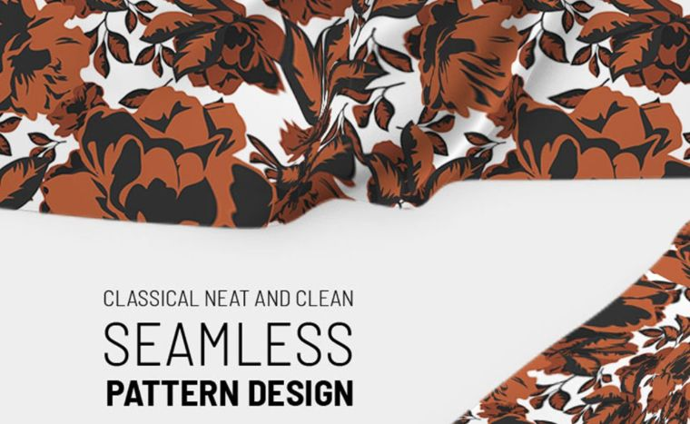 Classic repeat floral design Pattern