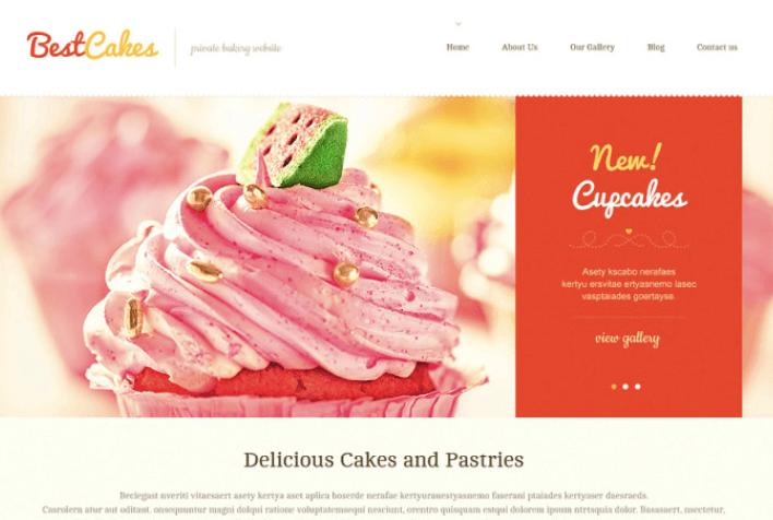 Cute Sweet Shop WordPress Theme