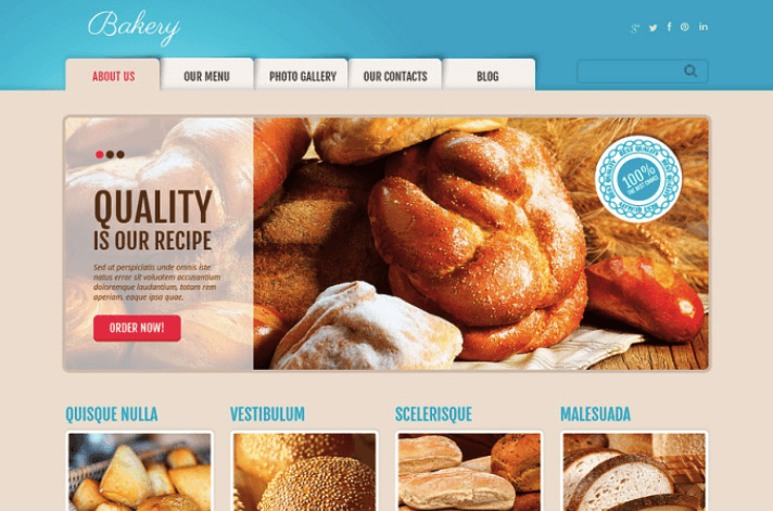 Delicious Bakery WordPress Theme