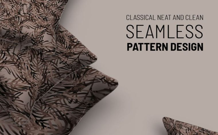 Dry foliage repeat design Pattern