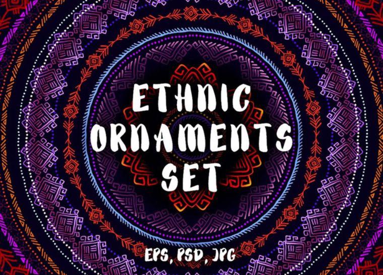 Ethnic Ornaments Set Pattern