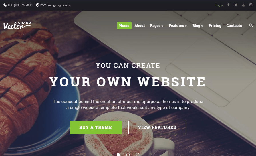 Grand Vector - Design Studio Multipurpose Website Template