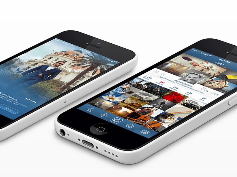 Redesign concept for Instagram app