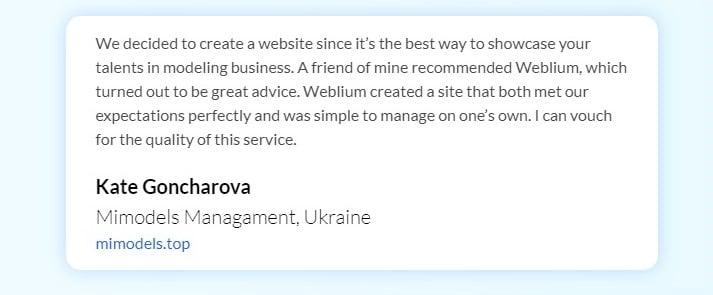 Review Weblium