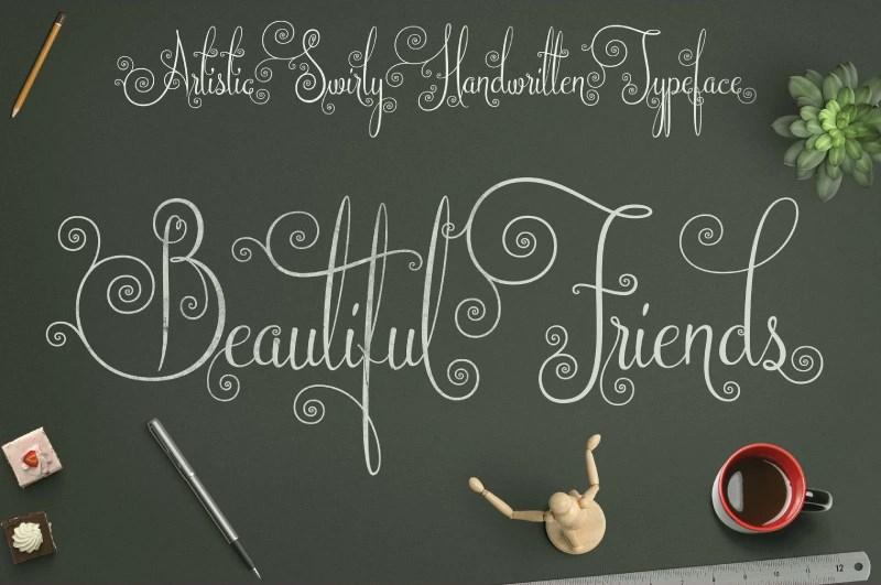 Beautiful Friends Script Font