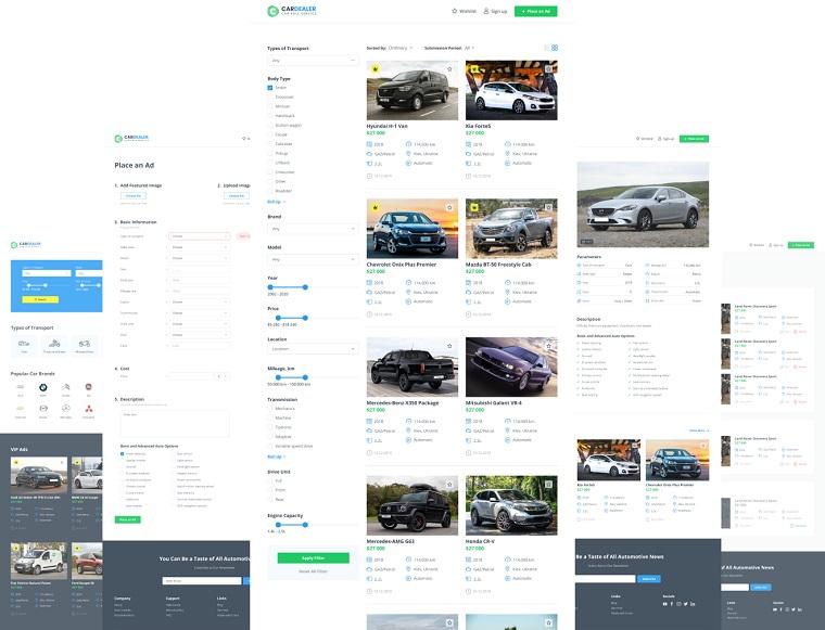 Car Dealer Website Template for Elementor.