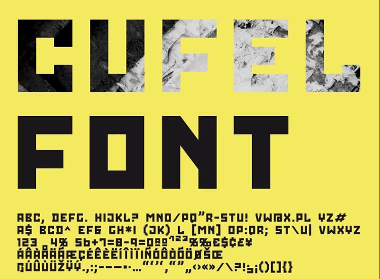 CUFEL Creative Font.