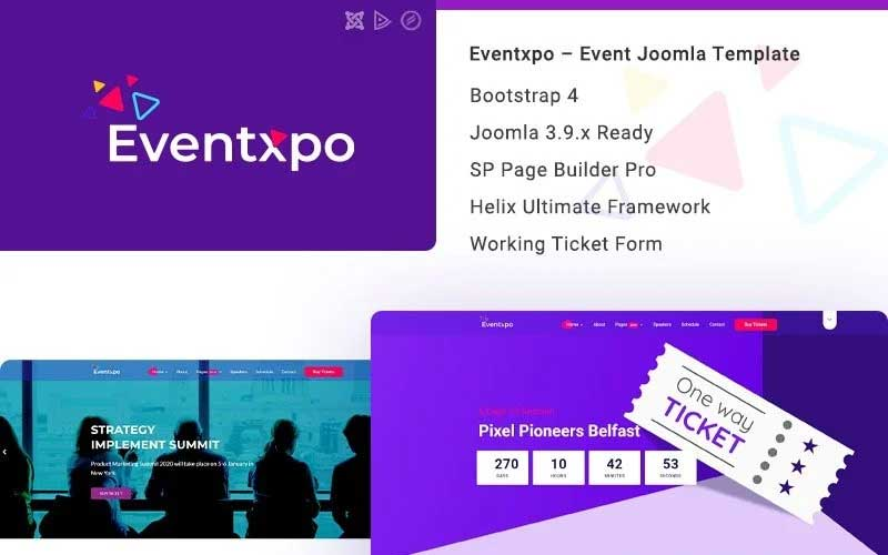 Eventxpo - Event & Conference Joomla Template