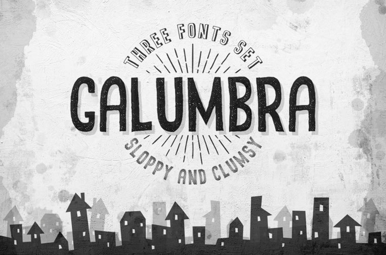 Galumbra Font Set Font.