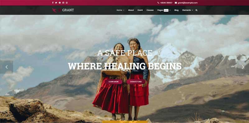 Grant - Nonprofit / Charity Joomla Template
