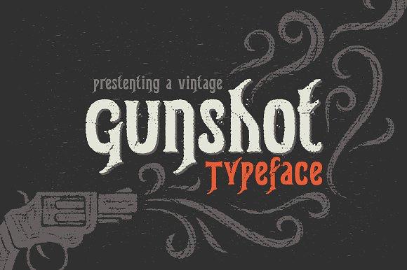 Gunshot Typeface Font