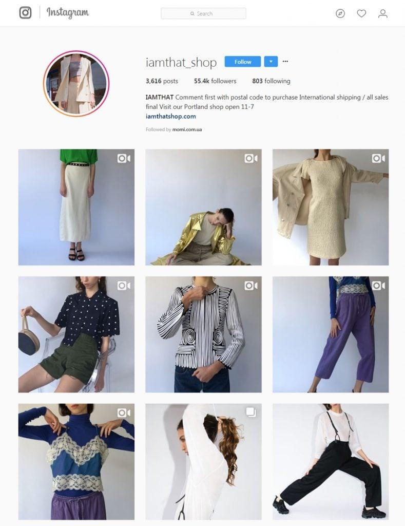 IAMTHAT Shop Instagram