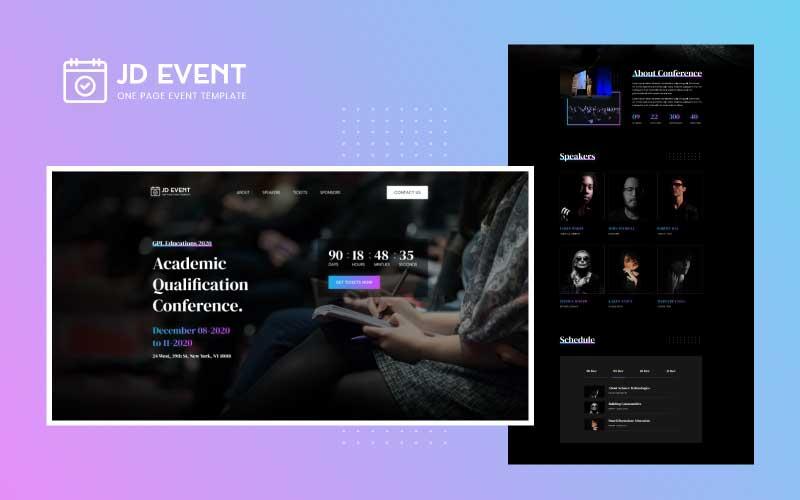 JD Event – Responsive Event Website Joomla Template