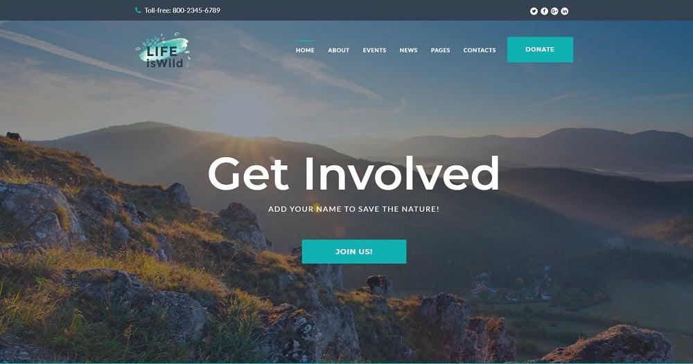 LifeisWild - Wild Life WordPress Theme WordPress Theme