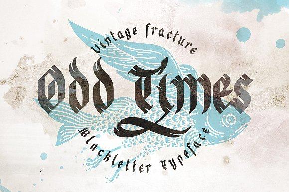 Odd times typeface + bonus graphics Font