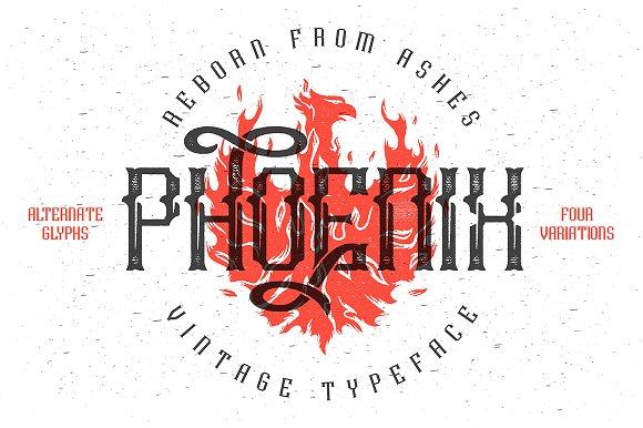 Phoenix typeface Font