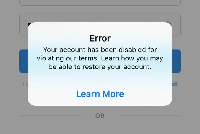6 Reasons Why Instagram Blocks You  To-Do Actions if You Get Banned