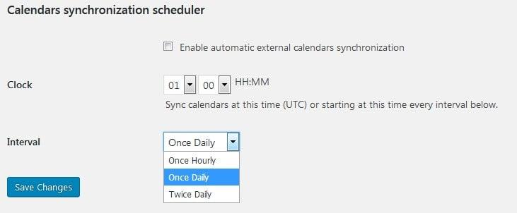 sync calendars