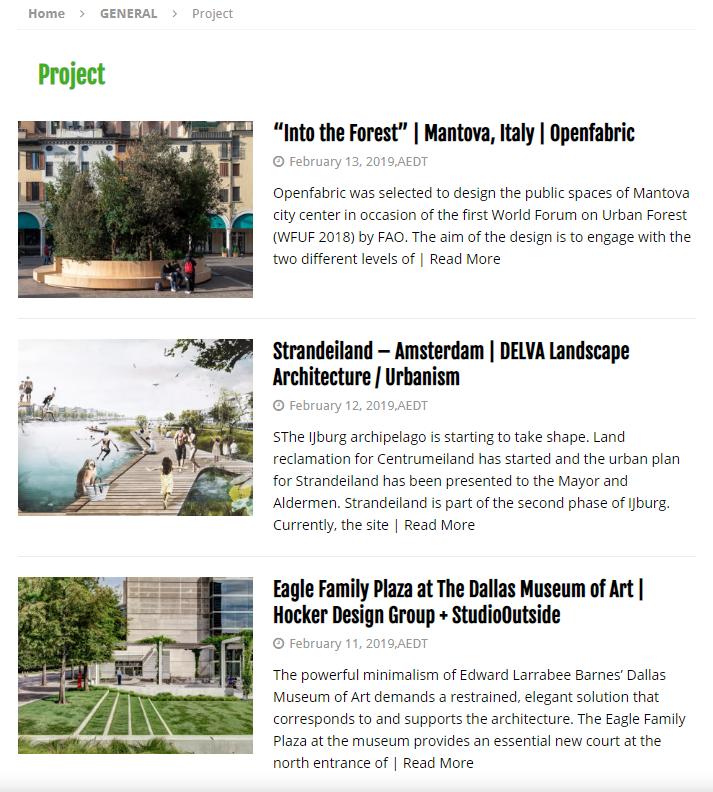 World Landscape Architect