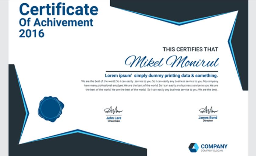 Bank Certificate Template