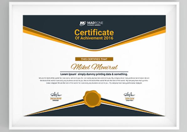 Computer Training Certificate Template