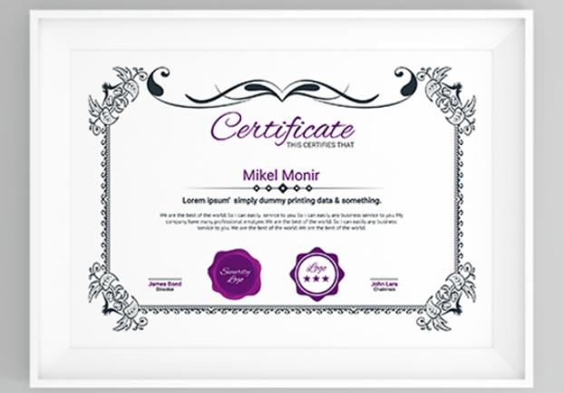 Education Certificate Template