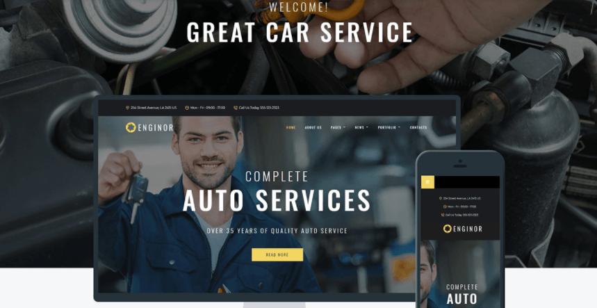 Auto Repair WordPress Themes